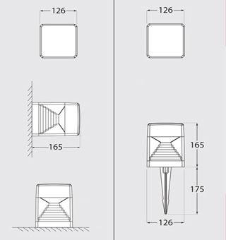 dimensions piquets jardin