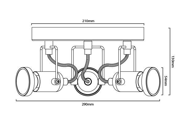 Plafonnier Nexus-3 dimensions