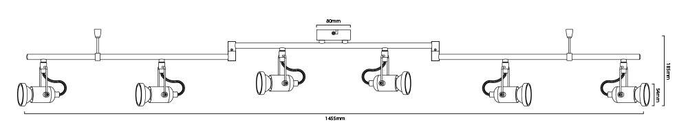 plafonnier Nexus-6 dimensions