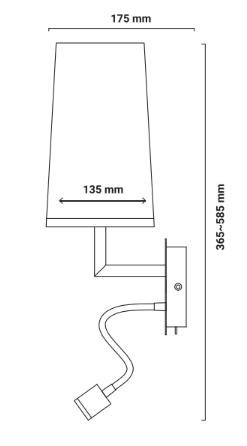 Lampe murale liseuse Double dimensions