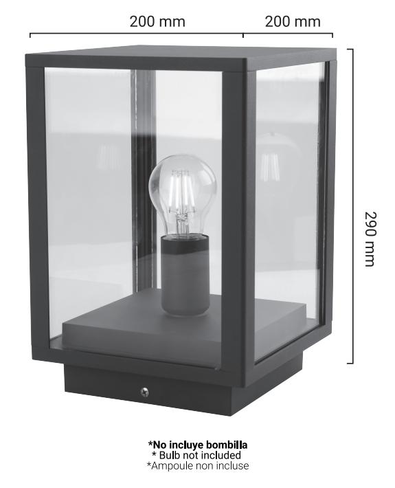 Lanterne Glass House dimensions