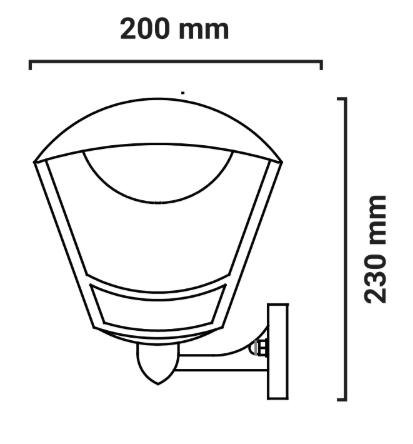lanterne murale dimensions