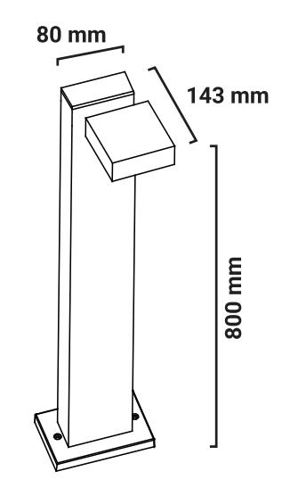 Borne extérieure pillar dimensions