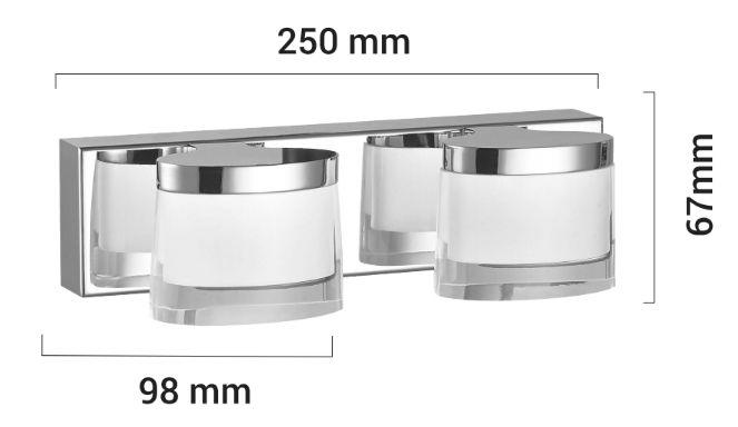 Applique LED Syon dimensions
