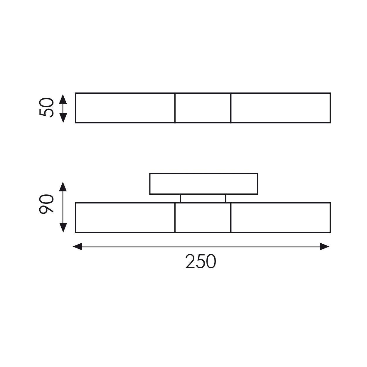 Applique murale Ordes dimensions