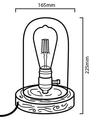 Lampe Tule dimensions