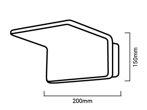 Applique LED Nélio dimensions