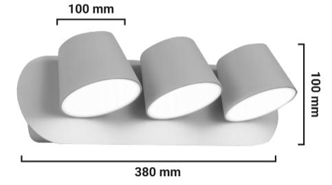applique murale LED Kop-3 dimensions