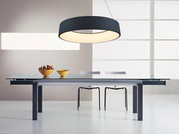 Lampe suspendue LED aluminium salle à manger