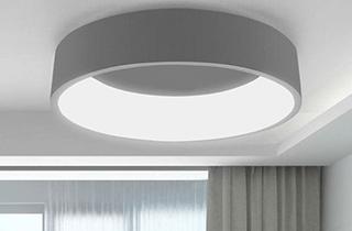 Lámpara oncamo de superficie color gris