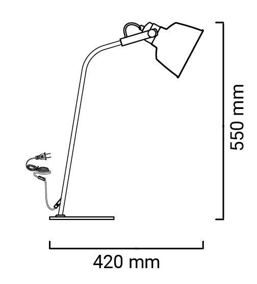 lampe kukka dimensions