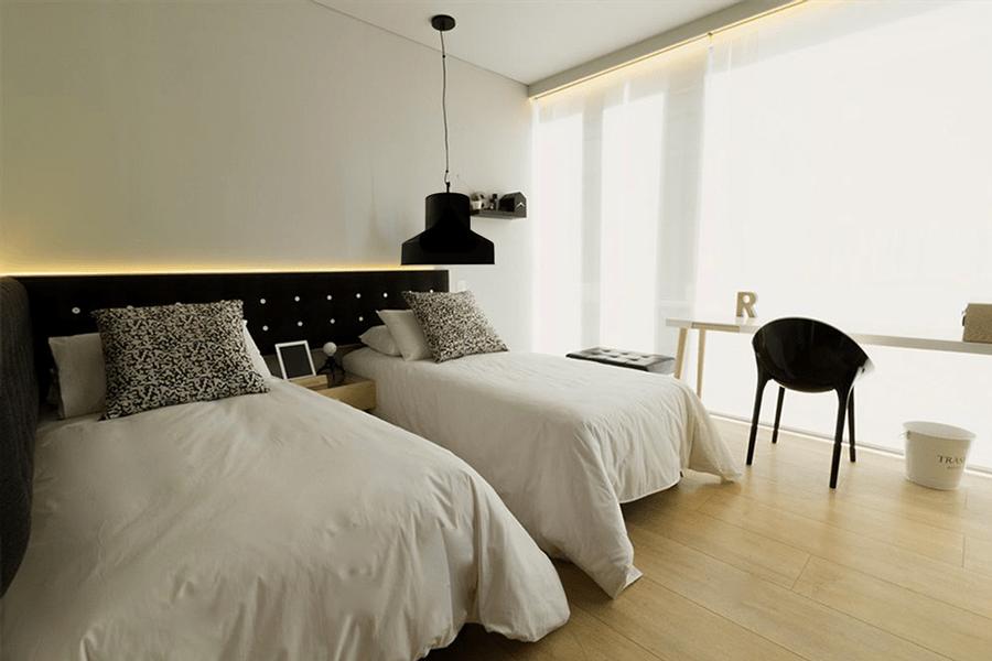 Suspension noire silicone chambre