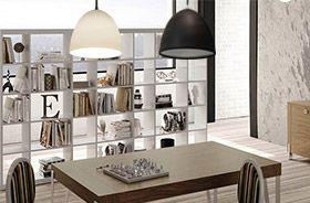 Lampe suspendue E27 blanche noire bureau