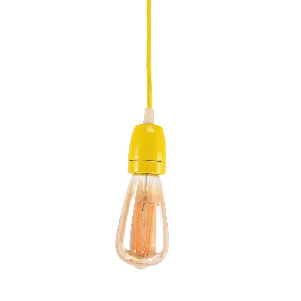 Lampe suspendue jaune E27