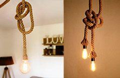 idée décoration lampe suspendue corde E27