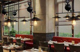 lumaire poulie décoration vintage restaurant