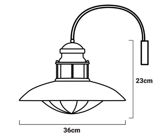 Lampe murale Coal dimensions