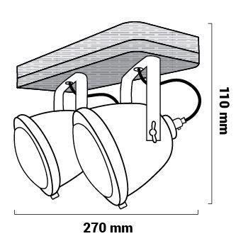 Lampe corbus dimensions