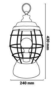 Lanterne Adid dimensions