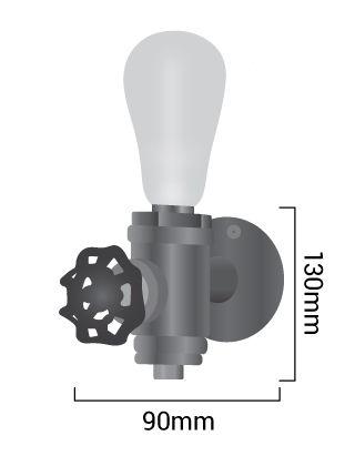 Lampe industriel Luxxo dimensions