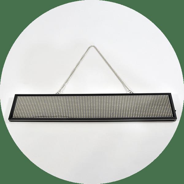 afficheur led chaine suspension
