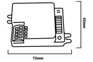 dimensions détecteur mouvement micro-ondes