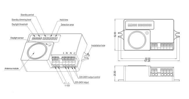 Schéma explicatif détecteur de mouvement micro-onde