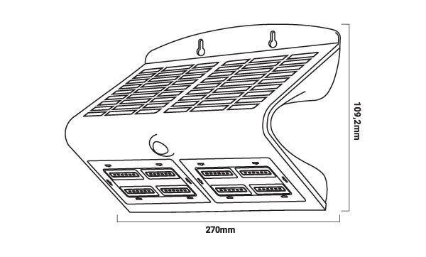 Medidas de la lampara solar