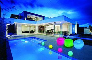 cube lumineux multicolore LED