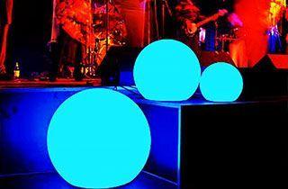 Boule lumineuse LED 60cm extérieur