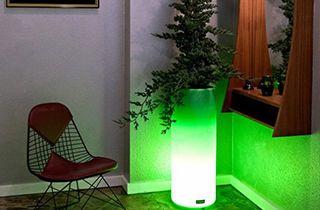 vase lumineux LED RGB 7W 80cm